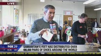 Hundreds of kids receive new shoes as part of Giving Tuesday in South Philadelphia