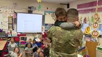 Military dad surprises son at school in heartwarming reunion