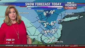 FOX 29 Weather Authority 9:45 a.m. Snow Update