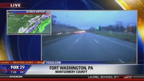 Wintry mix brings flakes during Wednesday morning route
