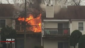 Devastating fire rages in Camden County apartment complex, displacing three families
