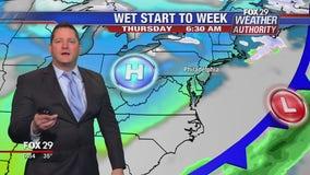 FOX 29 Weather Authority 7-day forecast 6 p.m.