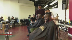 Germantown church becomes barbershop for a day to give back to community