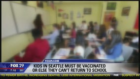 Students must be vaccinated or can't return to school in Seattle