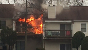 Fire rages through Camden County apartment complex, displacing 3 families