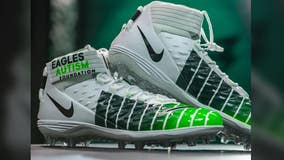 Philadelphia Eagles players sport custom cleats for charity