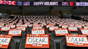 'I fight for Oskar': Flyers dedicate 4-1 victory to cancer-stricken teammate