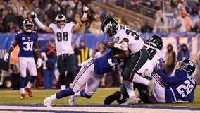 Injury-ravaged Eagles beat Giants 34-17 to win NFC East