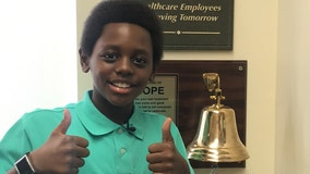 'Stay happy, stay strong': Inspirational 11-year-old rings cancer-free bell in time for the holidays