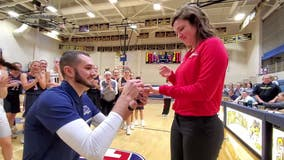 Opposing basketball coaches get engaged at game in Montgomery County