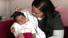 Surprise baby born prematurely home for the holidays