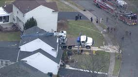 Crane falls on Mercer County home, no injuries reported