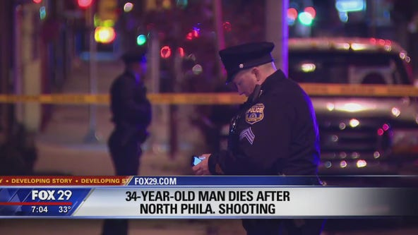34-year-old man fatally shot in North Philadelphia