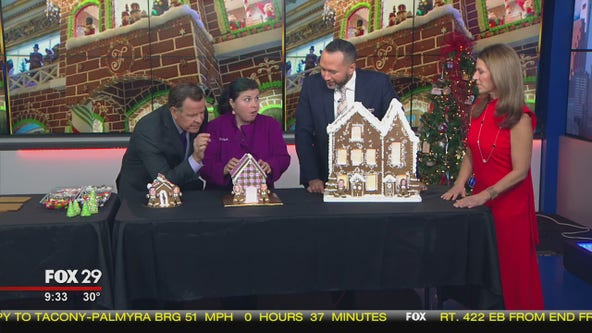 Good Day given a crash course in gingerbread house building