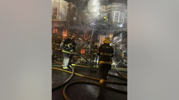 Families displaced after fire spreads to multiple row homes in North Philadelphia