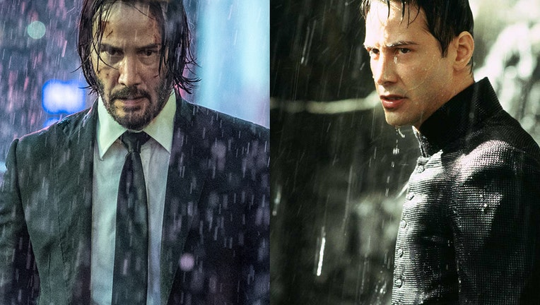 Publicity images showing actor Keanu Reeves as (L-R) John Wick from the 'John Wick' series and Neo from 'The Matrix' series.