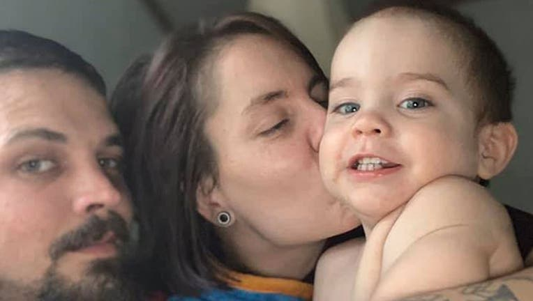 Loki is survived by his parents Kurtis Sharp and Deshay Wilson and his eight siblings. He died just a month shy of his second birthday. (Fox News vis Facebook)