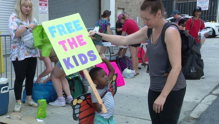 Berks County migrant detention center protest