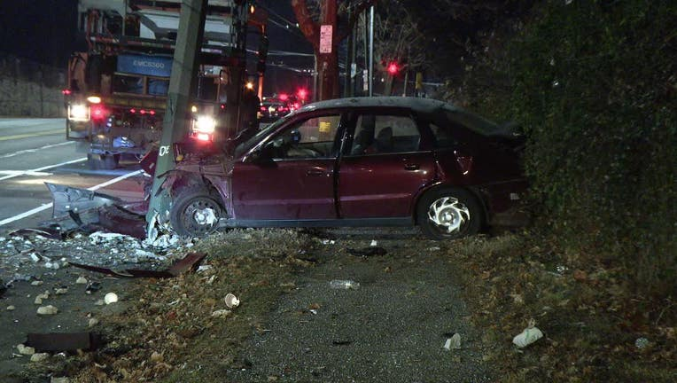 Frankford Avenue stabbing, car crash