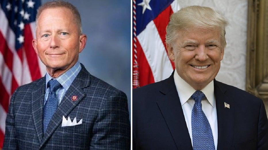 New Jersey Rep. Jeff Van Drew and President Donald Trump