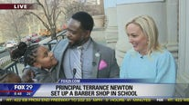 Principal sets up a barber shop to bond with, encourage students at Wilmington school