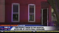 2 people taken to the hospital after fire at South Philadelphia rowhome