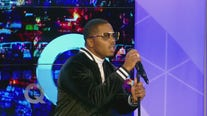 Singer J. Brown performs on The Q Show