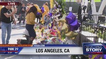 Mourners pay tribute to Kobe Bryant at the Staples Center
