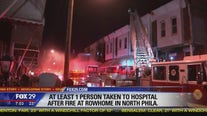 At least 1 person hospitalized after rowhome fire in North Philadelphia