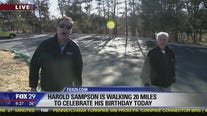 Delaware County man celebrates 82nd birthday by walking from Media to Center City