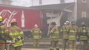 Coca-Cola tractor-trailer crashes into Quakertown home
