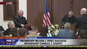 Archbishop Charles J. Chaput introduces Bishop Nelson J. Perez as successor