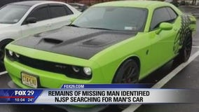 New Jersey State police looking for car after man's remains discovered in creek