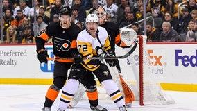 Crosby's OT winner lifts Penguins by Flyers 4-3