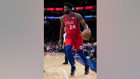 Embiid scores 24 in uniform No. 24 for Bryant in 76ers' win
