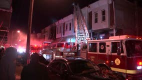 Man suffers broken back after jumping from 2nd floor to escape North Philly house fire