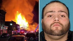Man charged with arson in fire that torched several NJ buildings