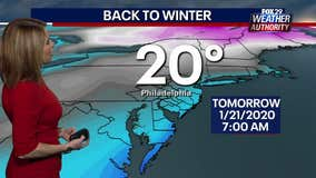 Weather Authority: Chilly Tuesday with sunny skies ahead