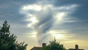 Woman captures cloud photo of 'Jesus with his arm outstretched'