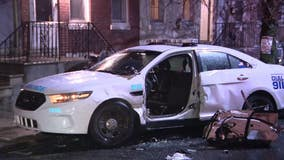 Police officer injured after crash in Kensington