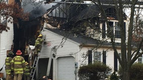 Crews battle 2-alarm fire at Cumberland County home