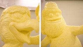Popular mascots unveiled in massive butter sculpture at Pennsylvania Farm Show