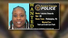 Evesham Township police searching for woman accused of swiping wallet