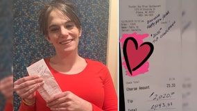 2020 Tip Challenge: Single mother gets $2,020 tip at Michigan restaurant