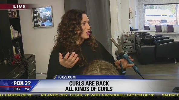Curls are trendy again amongst celebrities