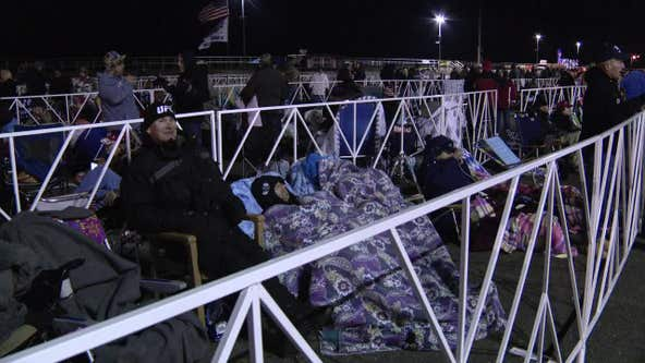 Supporters begin to line up for Tuesday Trump rally in Wildwood