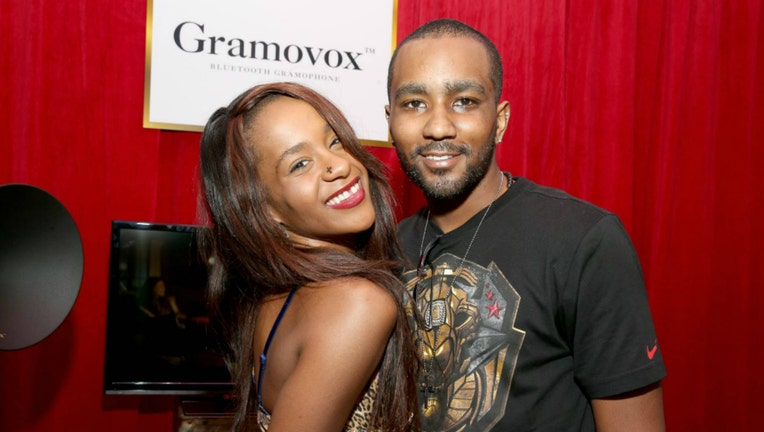 Bobbi Kristina Brown (L) and Nick Gordon attends the GRAMMY Gift Lounge during the 56th Grammy Awards at Staples Center on January 25, 2014 in Los Angeles, California. (Photo by Imeh Akpanudosen/WireImage)