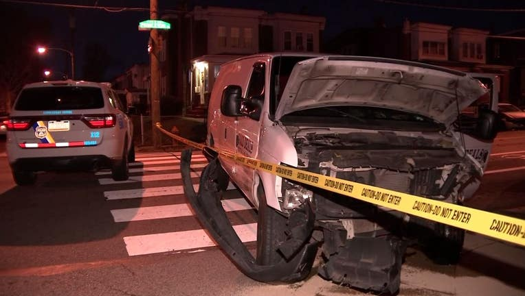 Princeton Avenue stolen truck crash