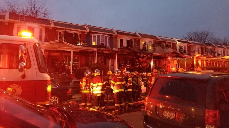 At least 5 row homes damaged by fast-moving fire in Logan