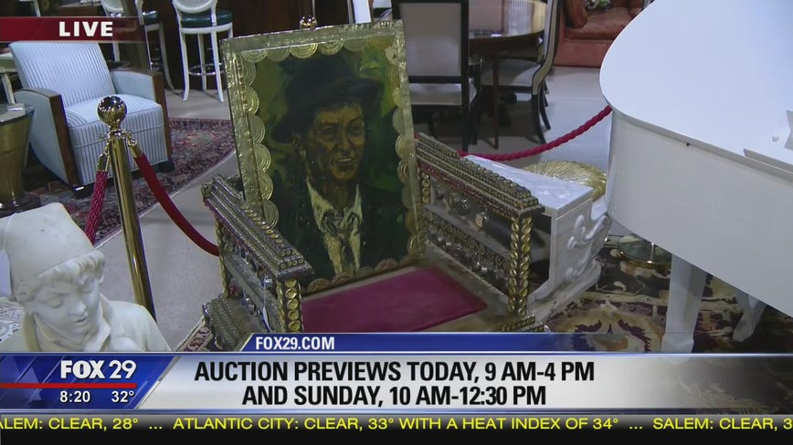 Frank Sinatra's items up for auction in Swedesboro